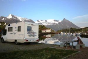 There are lots of free places to stay in your campervan in Scandanavia