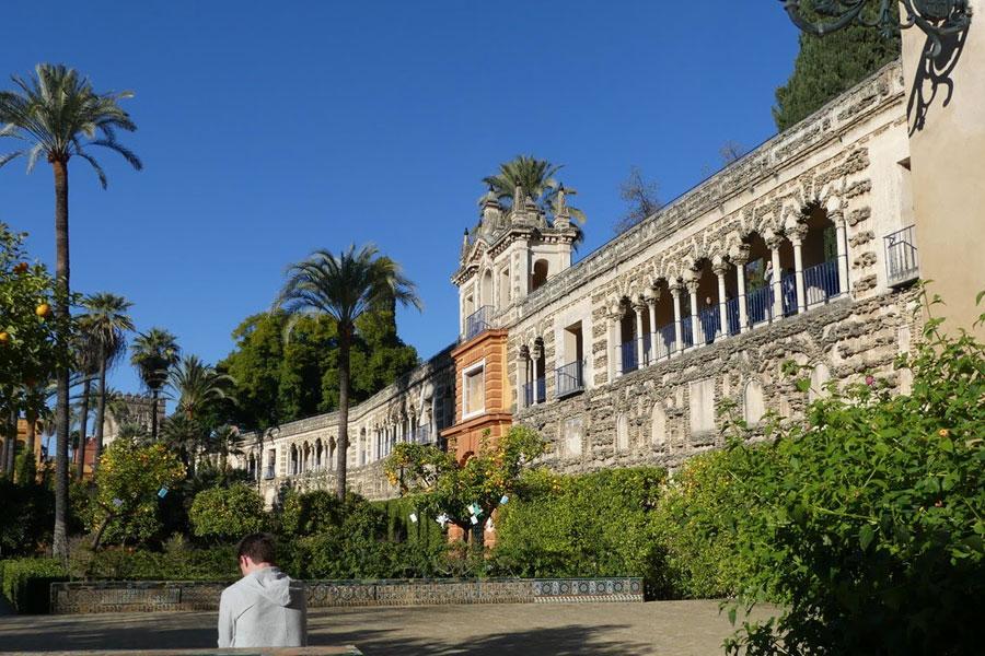 Spain The gardens of the Alcazar Palace, Seville