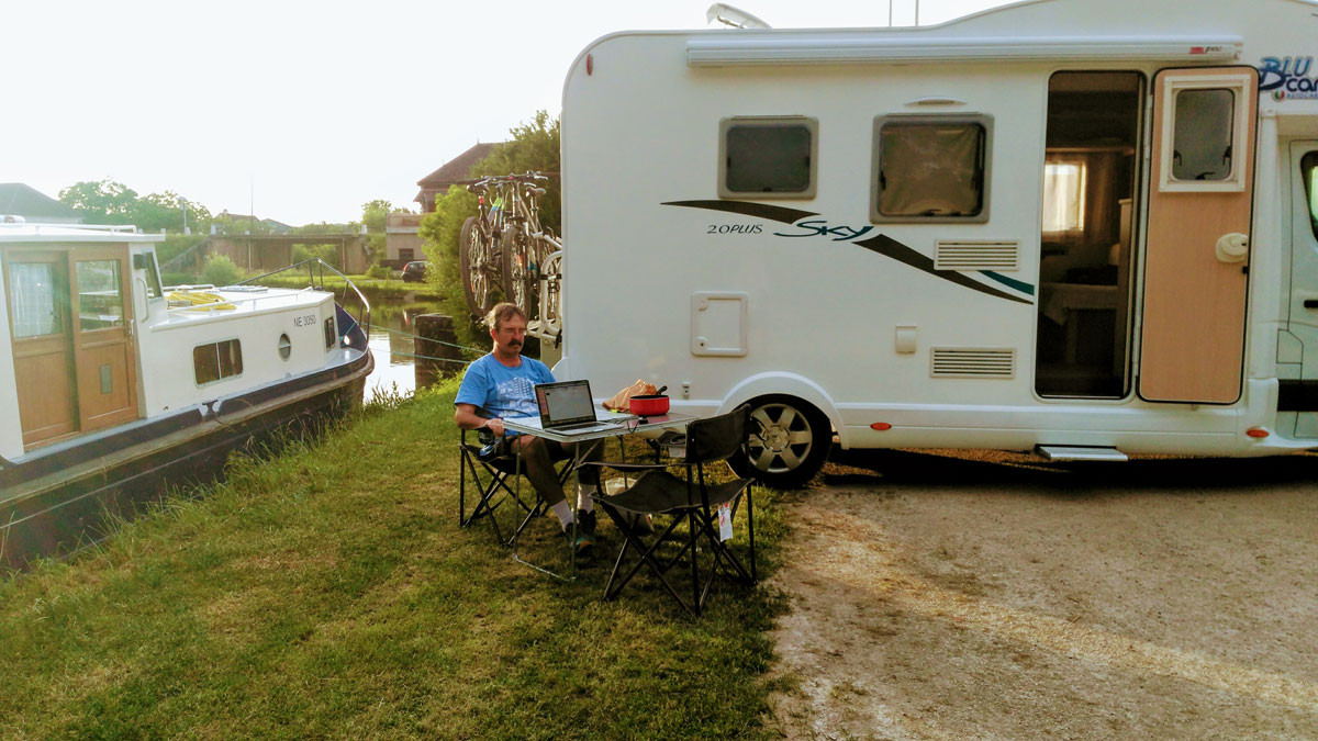 Week one adjusting to motorhome life and enjoying some French croissants.
