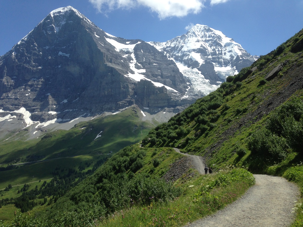 Hiking from Wengen