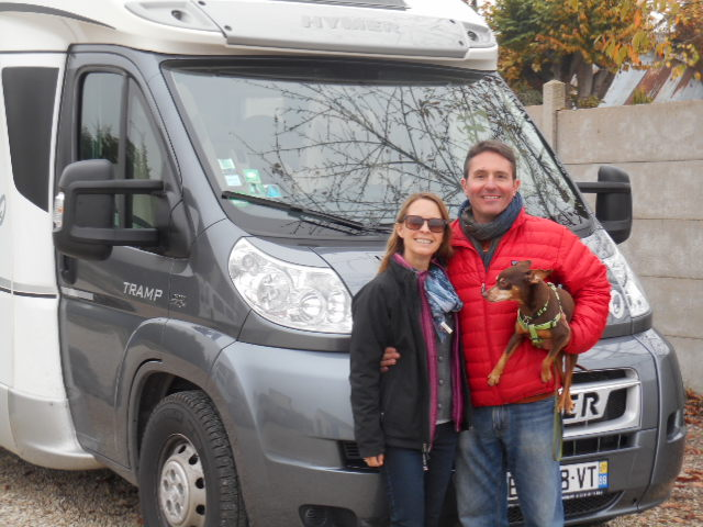 Shani and Todd park up their trusty RV at our depot before heading back to the US for the holidays