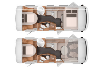 A central, island bed is the height of luxury and easy to get in and out of but it takes up space so you might need to consider a bigger motorhome