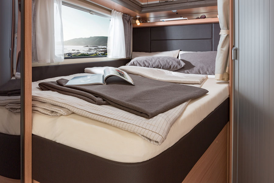 On a long European trip you will spend quite a bit of time driving and sleeping in your motorhome so it pays to find the balance between size and layout that suits you best