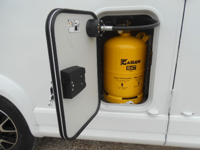 A huge garage locker, Gaslow refillable LPG tanks and extra locks add convenience and security