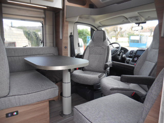 This whole space has an unusually light and airy feel for an RV