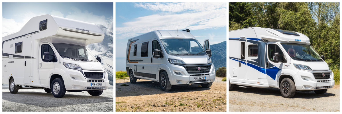 a selection of new motorhomes for sale