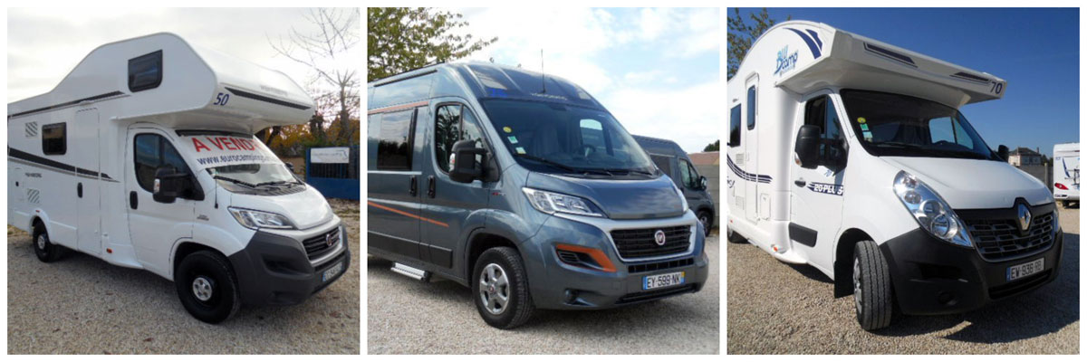 a selection of used motorhomes for sale