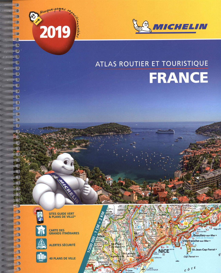 The detail in this Michelin atlas will give you a huge amount of information and detail compared to your GPS