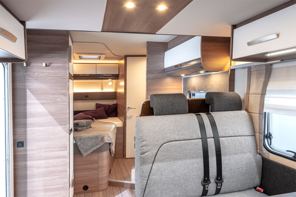 Your motorhome interior is probably bigger than most Paris hotel bedrooms!