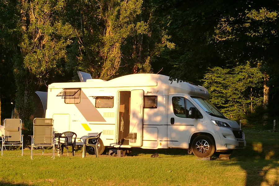 Not all campsite pitches are created equal, this is a nice big pitch from a four-star campsite