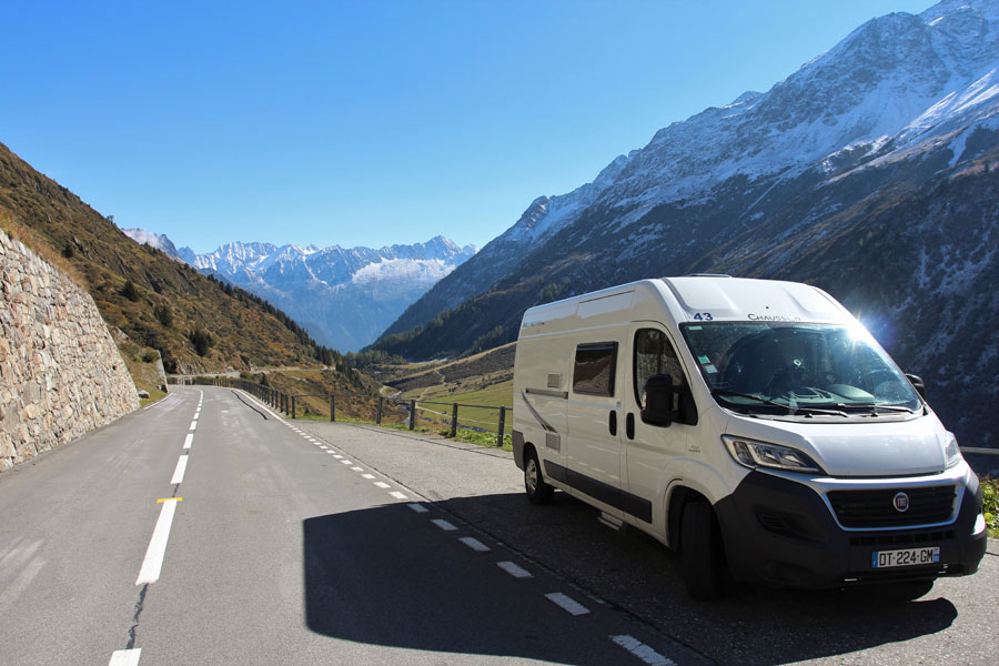 There are plenty of mountain stages on the 2019 Tour and a campervan is the ideal way to see them.  You'll have your bedroom, bathroom and kitchen up the mountain with you