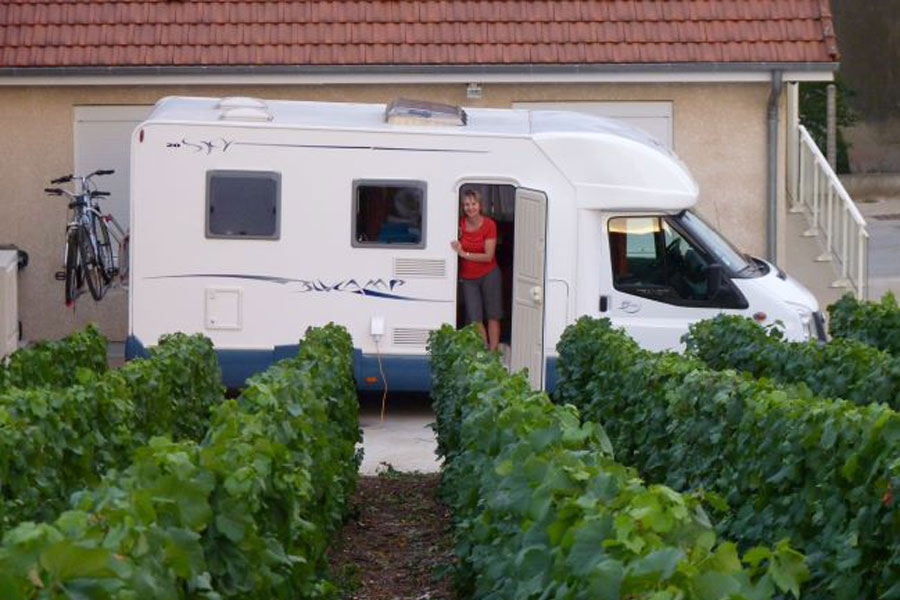Here's one of our first ever rental clients enjoying our first ever Blucamp Sky 20 in 2010
