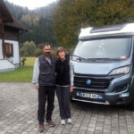 Chris and Gill on their European tour in their motorhome Honu