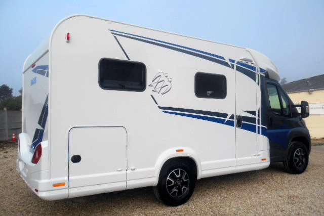 The Knaus 590 MF, one of the few remaining motorhomes in Euro Camping Cars current stock