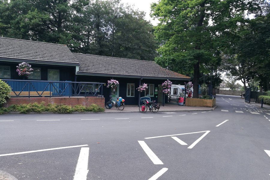 Campsite Reception and Entrance at Abbey Wood London