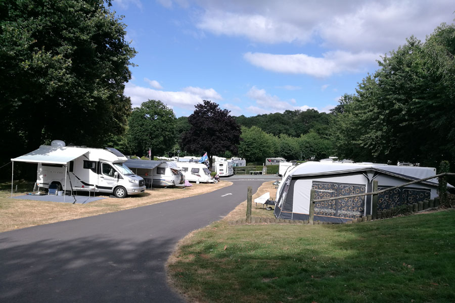 The Caravan and Motorhome Club Campsite at Abbey Wood, London