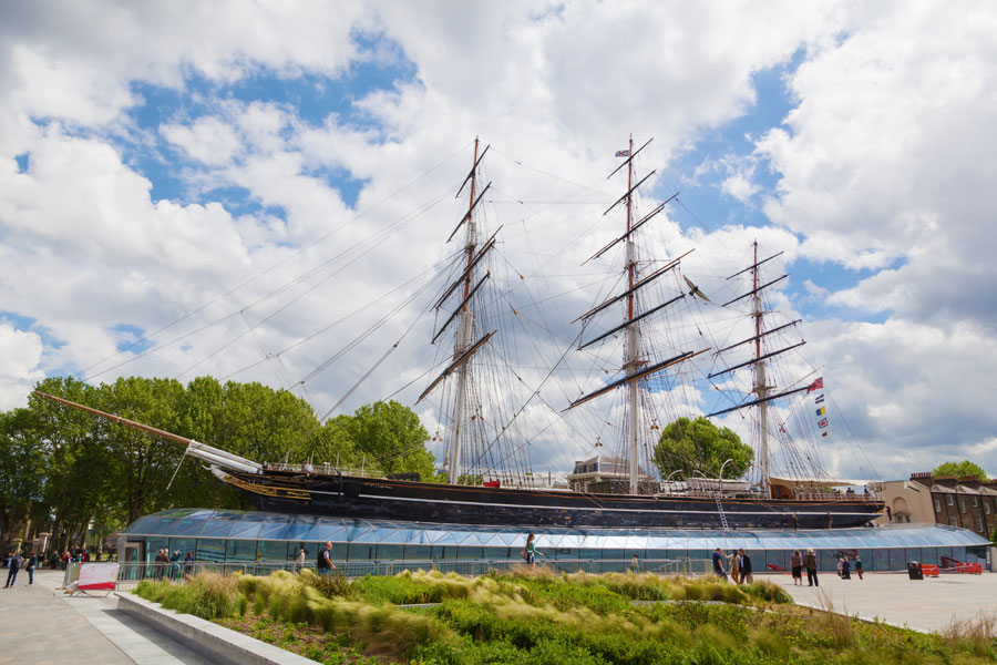The Cutty Sark in London, just one of the many things to see and do if you stay at Abbey Wood in a motorhome