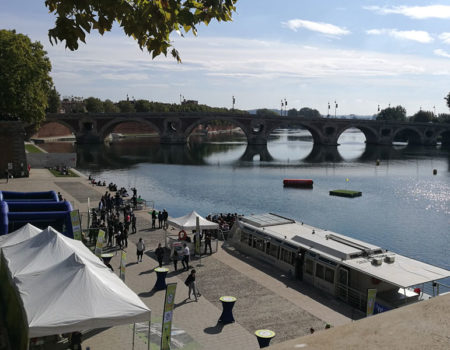 A quick look at Toulouse from a campervan
