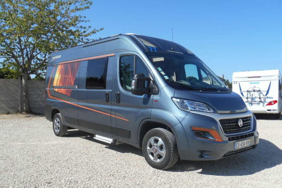 For their Van gap year, Craig and Tanya bought a Weinsberg 601 MQ edition Pepper just like this one