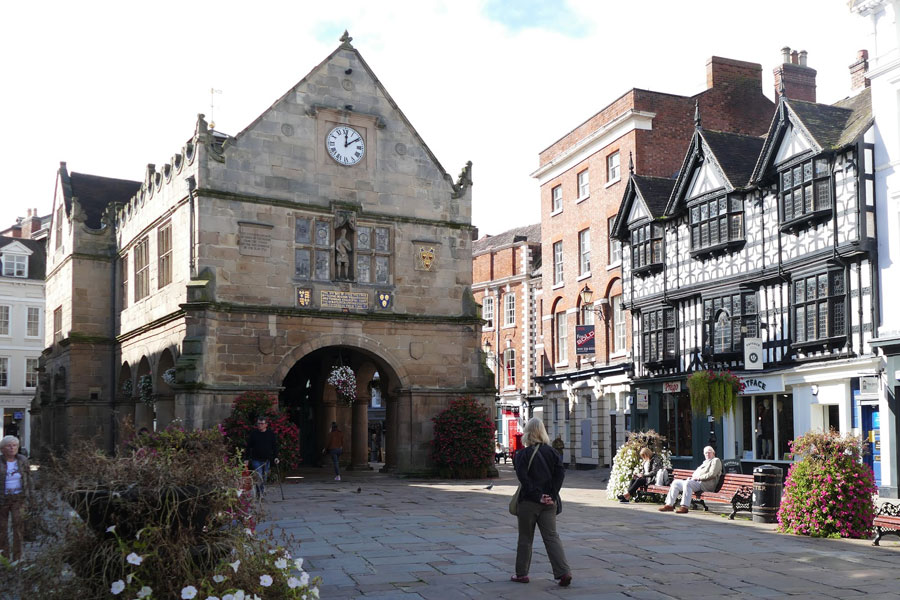 Shrewsbury, the birthplace of Charles Darwin