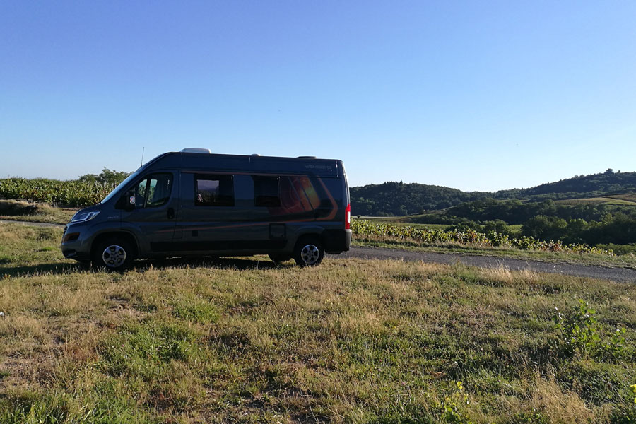 The great thing about exploring France in a campervan is the ability to spontaneously park up for the night practically anywhere