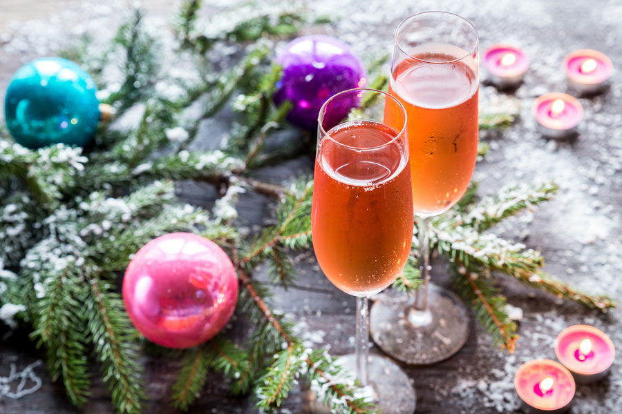 Whether you are in a motorhome touring Europe or home with the family this Christmas, try this delicious sloe gin and champagne cocktail