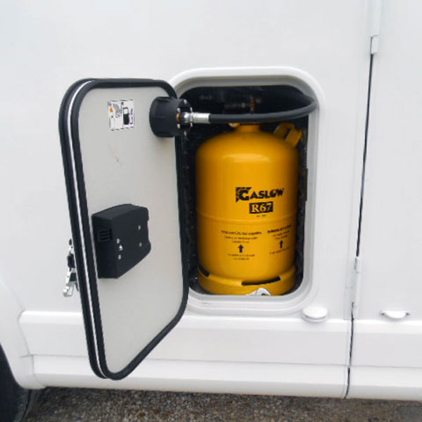 A refillable gas cylinder means you can stay topped up with gas all over Europe