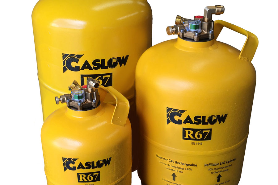 Gaslow gas cylinders come in an assortment of sizes
