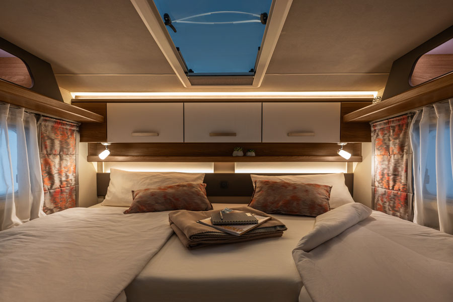There is nothing quite like being able to step inside a motorhome and try the bed to help you decide which one you like best.