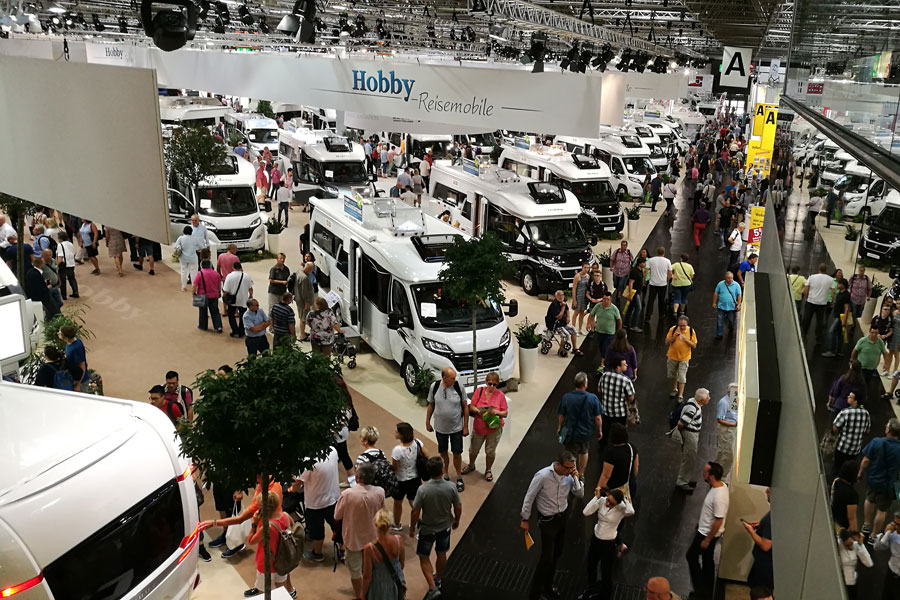 Wear some comfortable shoes to a motorhome show, you will walk miles. This is just one exhibitor.