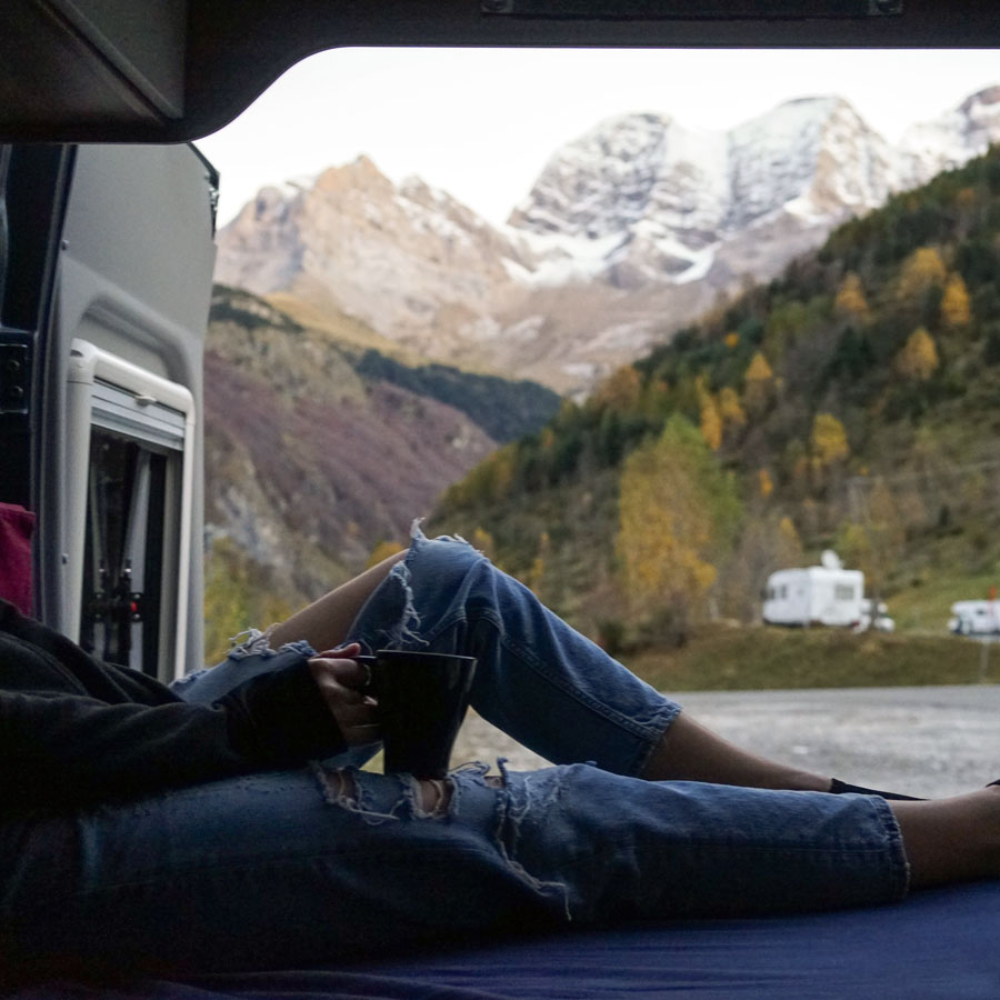 A campervan trip is not all about cities and historical buildings and some photos help to remind us of that