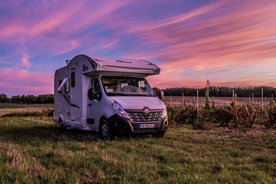 You'll never miss a sunset on a motorhome trip