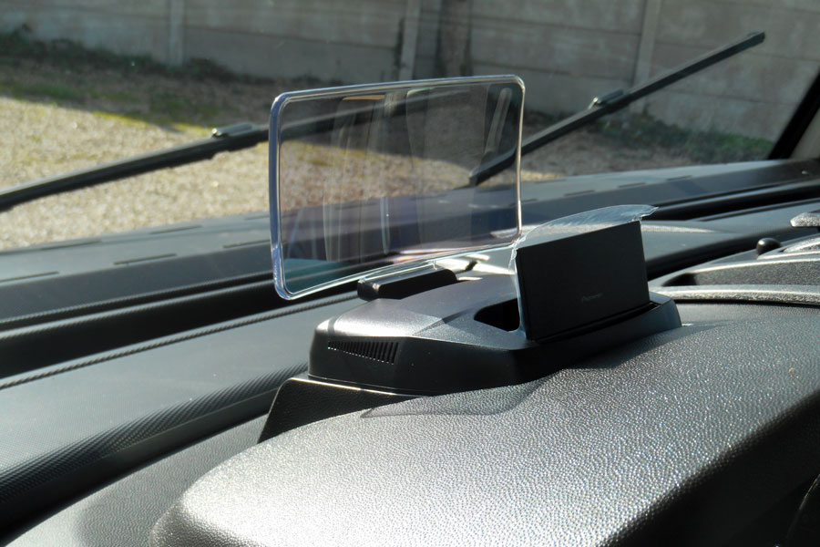 A closer look at the Pioneer heads up display