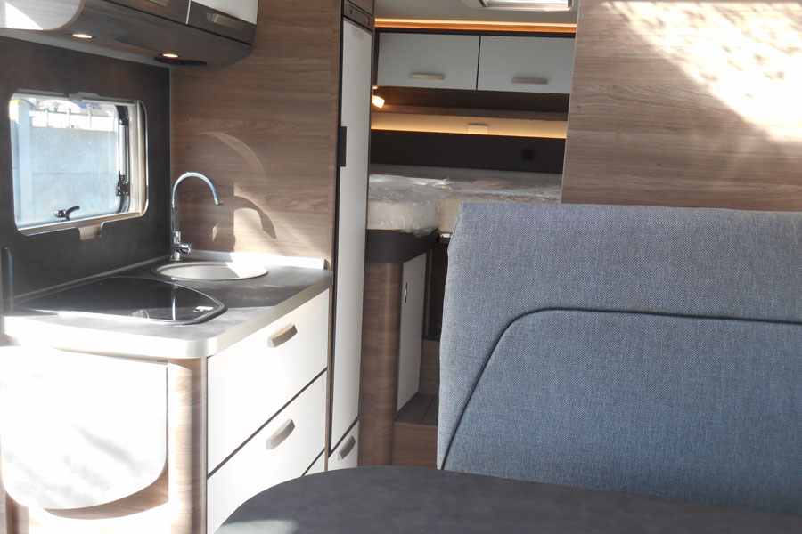 The kitchen on the 650 is a little smaller than the one on the 700 but it is still very spacious with everything you need including a big fridge freezer