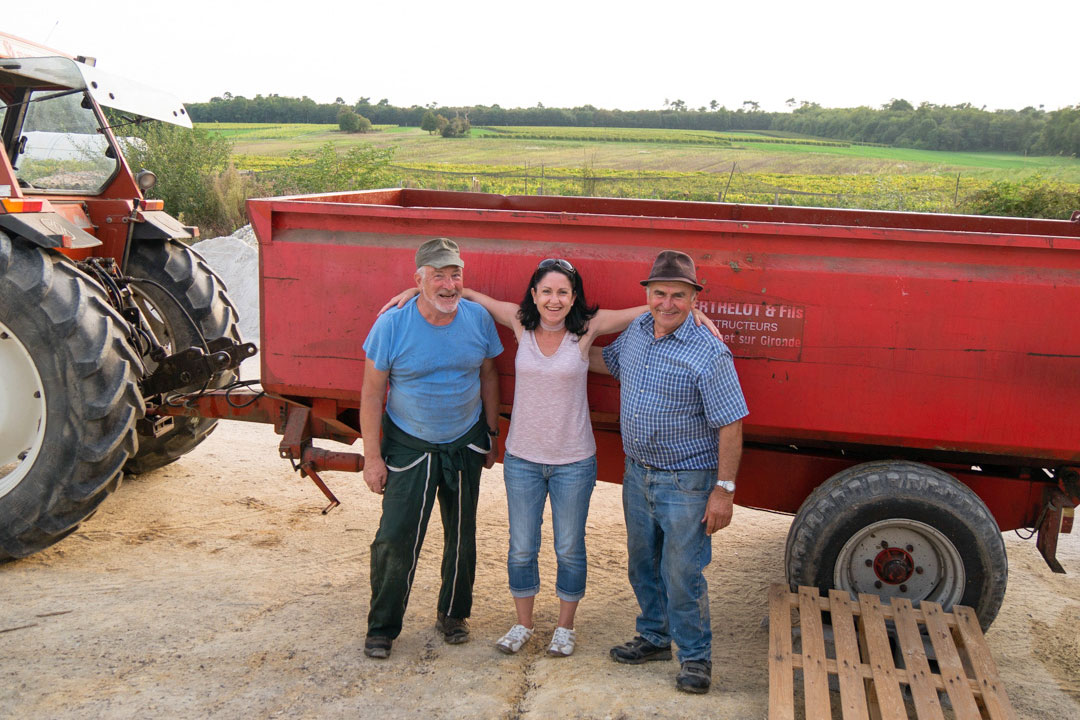 With the farmers of the France Passion location West France Kerri McConnel Beer and Croissants